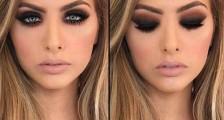 Koyu Renk Gelin Makyajı Modelleri